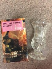 Vintage 24% Lead Crystal Vase NIB Collectors Crystal Galleries By Fairfield