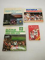 ✳️ 4 Bücher, davon 3 x Olympia, 1 x Fußball von 1972