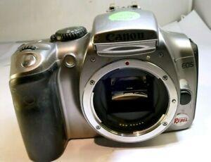 Canon EOS 300D 6MP Digitale Rebel SLR Fotocamera - Argento (Corpo Only) - As È -