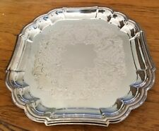 """GORHAM HERITAGE SCALLOPED EDGE VH27 SILVER PLATED SERVING TRAY 11 1/2"""""""