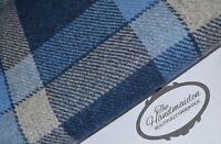 HARRIS TWEED FABRIC & LABELS 100% wool tartan herringbone upholstery patchwork 1