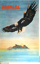 Political POSTER.GRENADA.American Invasion.Cold War Cuban Communist Art.am37