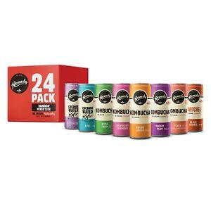 Remedy Raw Kombucha Tea, Kefir and Switchel Rainbow Mixed Case - 24 x 250ml