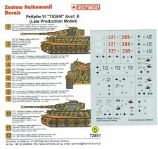 Techmod Decals 1/72 Pz Kpfw VI Tiger I Ausf E (Late)