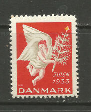 Denmark Christmas 1933 Tuberculosis (TB) charity stamp/seal
