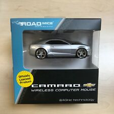 Camaro Wireless Car Mouse SILVER  IDEAL GIFT - HIGH QUALITY OFFICIAL LICENSED