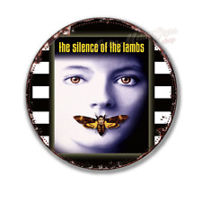 """THE SILENCE OF THE LAMBS  film movie  12"""" round circular  shaped metal tin sign"""