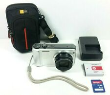 Sony Cyber-Shot DSC-H70 16.1 MP Digital Camera Silver W/ Charger, SD Card, Case
