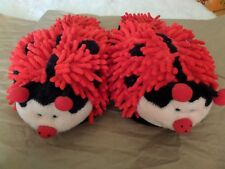 Lady Bug Slippers Red Aroma Home Fuzzy Friends Slippers Size 6