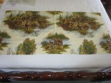 "DEER PRINT Drapery Cotton Fabric Panel for Pillows or Crafts - 48"" x 5/8 Yd."