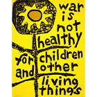 PROPAGANDA POLITICAL PROTEST WAR CHILDREN FLOWER PEACE YELLOW POSTER 30X40 CM 12