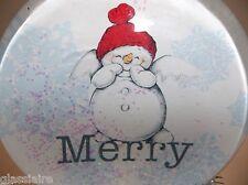 Dept 56 Snowglobe Snowman Merry