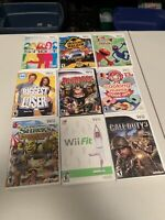 9- Lot Of Mixed NINTENDO WII Games Popular  Includes Call Of Duty Games