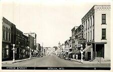 Wisconsin, WI, Berlin, Huron Street 1940's Real Photo Postcard