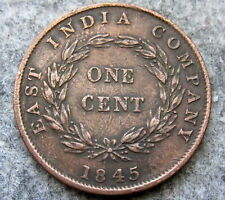 STRAITS SETTLEMENTS EAST INDIA COMPANY QUEEN VICTORIA 1845 ONE CENT