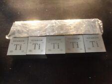 TITANIUM CUBE-SQUARE lot (10) 5 OUNCE ea -  99.9% PURE FINE TITANIUM BULLION .