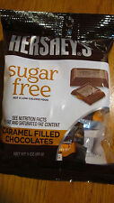 Hershey's Sugar Free Caramel filled Milk Chocolate Bars - 3oz bags - 3 bags