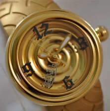 "GIALLO 44mm Von Dutch Gold-Tone ""Spirale metallica"" Swiss Made OROLOGIO TAG di $765.00"