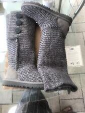 Genuine Ugg Damas Clásico Cardy De Punto Carbón Botas Uk Size 4 Eur37 Original