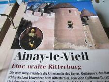 Burgen und Schlösser Frankreich Ainay -le-Viel uralte Ritterburg