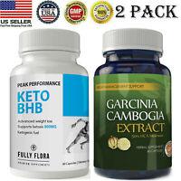 Keto BHB Diet Pills Weight Loss Garcinia Cambogia Extract 50% HCA Fat Burn Caps