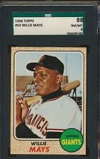 1968 Topps #50 Willie Mays Giants HOF SGC 88 NM-MT 8