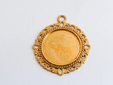 10 x Cabochon Base Settings Antique Gold Round 35mm x 32mm, LF NF Findings Tray