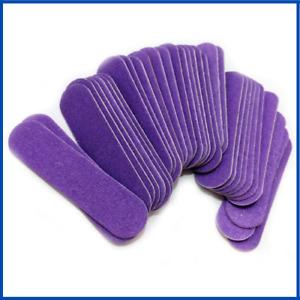 Mini Nail File Buffer Purple Sanding Buffing Wood Manicure Pedicure Care Supply