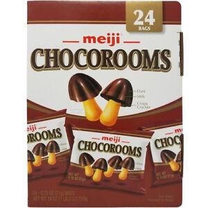 Meiji Chocorooms Dark Milk Crispy Cracker Vend Pack 24 CT 18 OZ