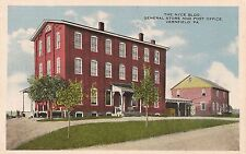 The Nyce Building General Store and Post Office Vernfield PA Postcard