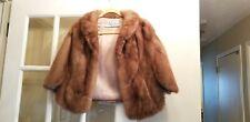 Vintage Mink Fur Stole Cape Shawl Wrap Bridal Cover Coat lined Jacket