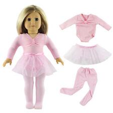 Pink Handmade American Clothes Ballet Dress Skirt Set Gift Fits 18'' Girl Doll