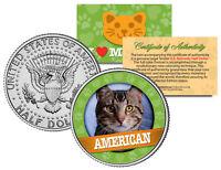 AMERICAN Cat JFK Kennedy Half Dollar US Colorized Coin