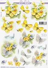 3D Bogen Motivbogen Etappenbogen Grußkarte Blumen Schmetterlinge (309) Basteln