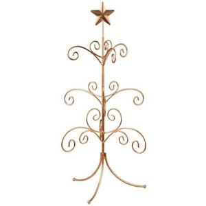 "22"" Gold Metal Wire Mini Regent Christmas Ball Ornament Display Stand Tree"