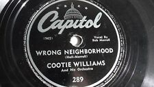 Cootie Williams - 78rpm single 10-inch – Capitol #289 Wrong Neighborhood