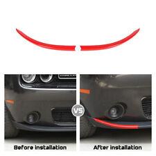 2x Red Front Bumper Lip Strip Trim Bezel for Dodge Challenger 2015+ Accessories