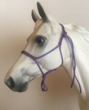 Breyer Traditional 1:9 Scale Handmade Purple Rope Halter Model Horse Tack