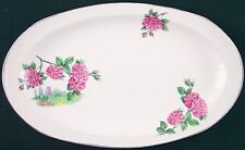 "Vintage Barker Bros. LTD Royal Tudor Ware England Pink Roses 10.5"" Tray Platter"