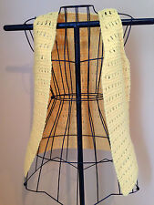 Vintage Hand Crocheted Ladies Vest Yellow Size Small 1970s