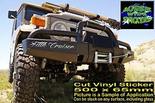 LANDCRUISER 4x4 ute Car accessories Funny toyota Stickers FILTH CRUISER 500mm