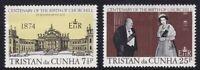 TRISTAN da CUNHA 30 NOV 1974 WINSTON CHURCHILL CENTENARY SET OF BOTH  MNH a