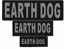 EARTH DOG  Patch Reflective Extra Label Tag for Dog Harness Service