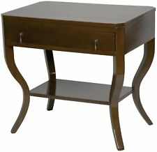 """30"""" Set of Two Side Table Night Stand Birch Distressed Brown 2842"""