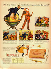 1940's Vintage ad for Fleetwood Imperials Cigarettes (012014)