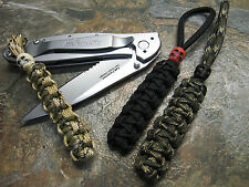 3 PACK PARACORD NO CORE KNIFE LANYARD & SKULL BEADS AMERICAN MADE