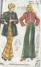 années 1970 VINTAGE COUTURE GABARIT b34-36-38-40 pantalons & Manteau (R699)