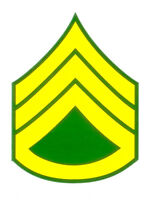 US Army E-6 SSG Staff Sergeant Rank Decal 3 Inches Wide