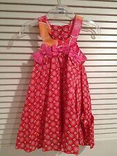 NEW Deux Par Deux Girls' Pink Printed Dress Me Gustas Tu Size 2T