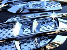 Chrome Cadillac STS CTS Escalade Deville ESV DTS SRX Mesh Port Hole Side Vent R